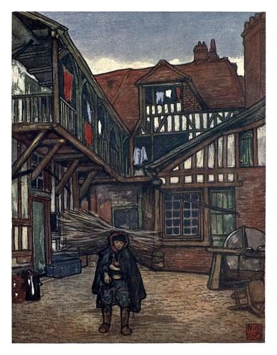 013- Patio de una antigua posada en Bayeux-Normandy-1905- Ilustrado por Nico Jugman