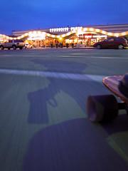 Cruising in Boulder (phidauex) Tags: motion night longboard skateboard canons90