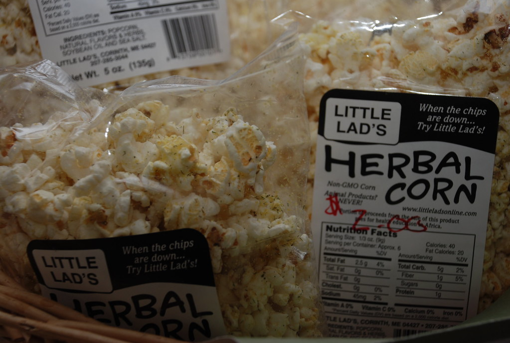 """Little Lad's Herbal Corn """"When the chips are down...Try Little Lad's!"""""""