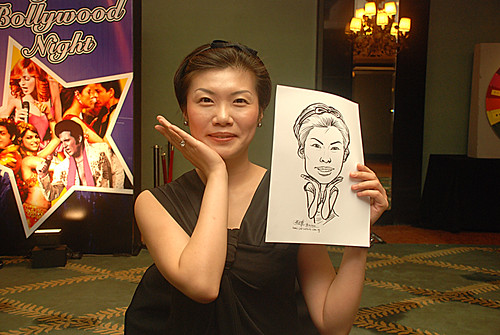 caricature live sketching for Panasonic Factory Solutions D&D -10
