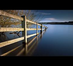 Fence |-|-|> (Reed Ingram Weir) Tags: longexposure england fence north east cp flooded polariser derwentreservoir leefilters reeingramweir wwwreedingramweircouk helopan lee10stop 075h
