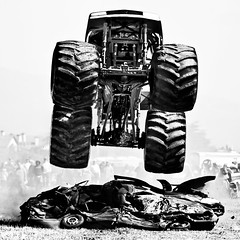 Mother Trucker (Thomas Hawk) Tags: california bw truck 10 fav20 fav30 halfmoonbay monstertruck fav10 fav25 fav40 dreammachines superfave dreammachines09