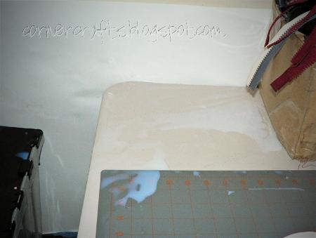 mod podge craft glue mess spill child