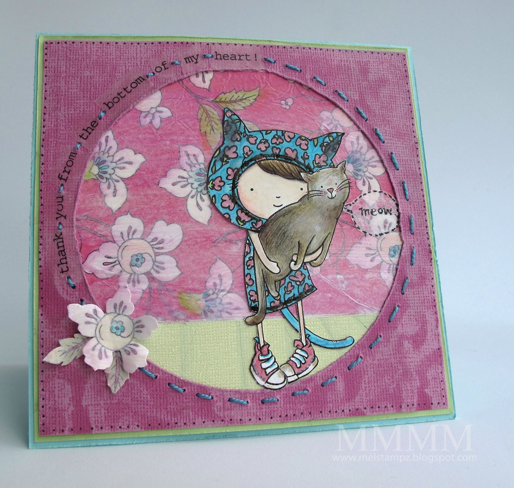 Caardvarks Core-dinations SRM stickers kimprints tada paper kitty thank you card