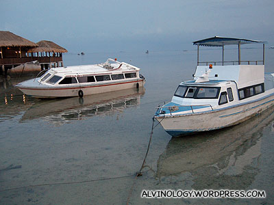 Parked small boats
