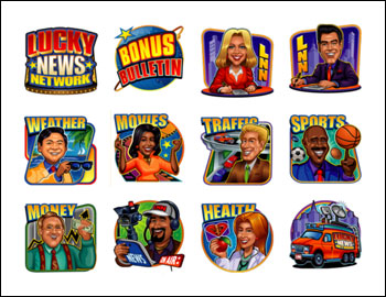 free Lucky News Network slot game symbols