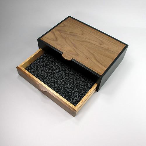 Walnut, Oak and Maple Jewelry Cabinet