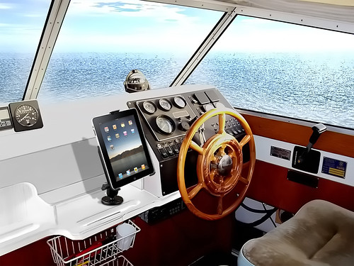 iPad boat mount
