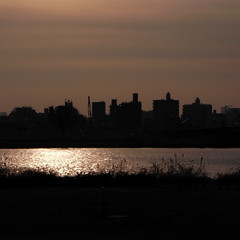 sunset view at Arakawa river
