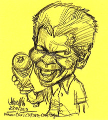 quick sketch of Nelson Rolihlahla Mandela