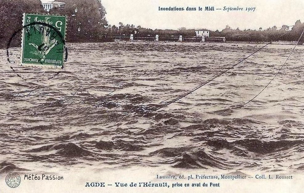 crue de l'Hérault à Agde en septembre 1907