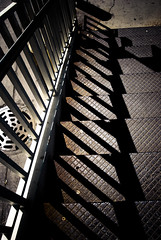 (EMENFUCKOS) Tags: street chicago man stairs rust iron stair cta hole steel authority rusty sidewalk transit sewer