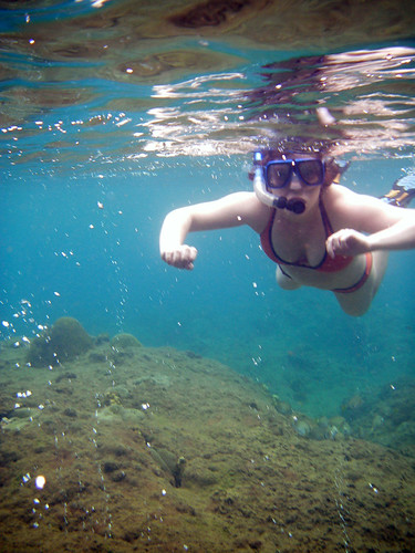 snorkeling with the bubbles