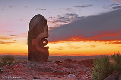 Broken Hill Sunset (-yury-) Tags: sunset sculpture australia nsw outback hdr symposium brokenhill bajoelsoljaguar underthejaguarsun antonionavatirado