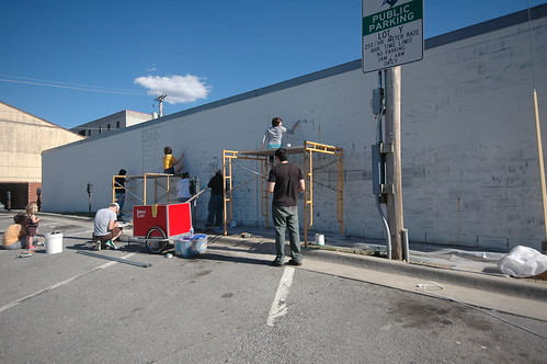 Campustown Mural Project: Day 1!