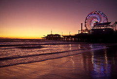 """""""we can live beside the ocean, leave the fire behind."""" (red.dahlia) Tags: sunset reflection night losangeles clear pacificocean santamonicapier santamonicabeach nikond90 titlepilferedfromsantamonicabyeverclear"""