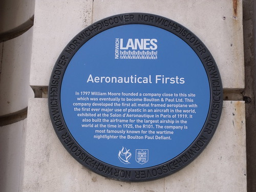 Discover Norwich Blue plaque of Aeronautical Firsts