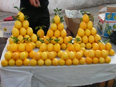 Citrus limon (Lemons) at Tashkent Market (Arthur Chapman) Tags: food fruit lemon markets citrus agriculture uzbekistan limon tashkent cwr cropwildrelatives citruslimon taxonomy:class=magnoliopsida taxonomy:order=sapindales taxonomy:kingdom=plantae taxonomy:family=rutaceae taxonomy:genus=citrus geocode:method=googleearth geocode:accuracy=500meters geo:country=uzbekistan taxonomy:binomial=citruslimon taxonomy:common=lemon oloybozoribazaar