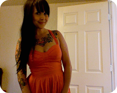 love this coral dress for summer!