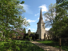 St Mary's Church (dorrisd/ unable to comment for a while) Tags: trees england building tower church countryside spring village britain great blossoms cotswolds churchyard kerk engeland dorp canonpowershot platteland dorrisd mieneke