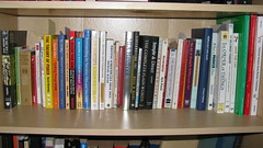 3rd shelf, left bookcase, writing resources