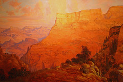 Painting of the Grand Canyon from an exhibition at the photo studio on the South Rim (IMG_1671a) (Alaskan Dude) Tags: travel arizona nature landscapes scenery grandcanyon nationalparks canyons grandcanyonnationalpark americansouthwest