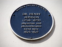Photo of Henry Jephson blue plaque