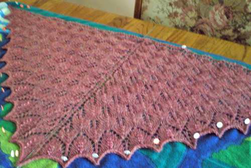 chana shawl stretched out