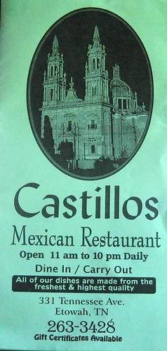 Castillos: Menu