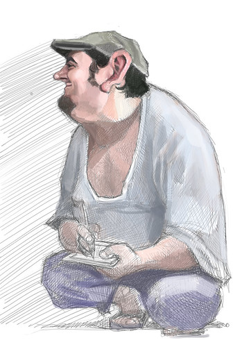 digital sketch of Jaume Cullell - 5