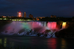 DSC_1429 (jharrah87) Tags: longexposure usa canada colors night niagarafalls waterfall unitedstates illumination americanfalls