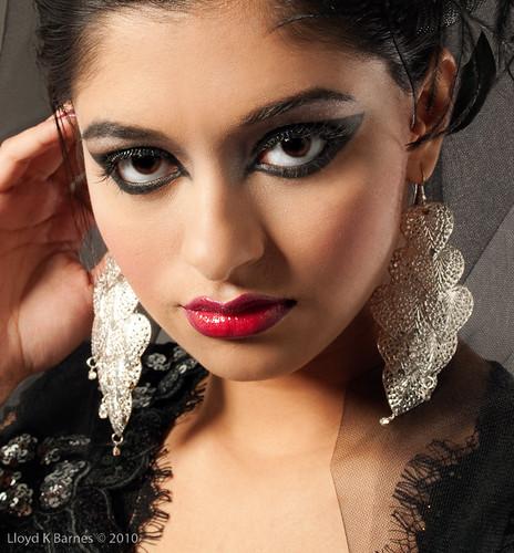 The model, makeup