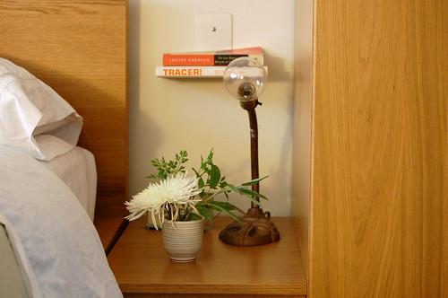 flowers, bedside