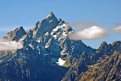 The Grand Teton Peak (bhophotos) Tags: travel usa snow mountains nature clouds landscape geotagged nikon day sigma wyoming tetons grandtetonnationalpark 170500mm d80 grandtetonpeak projectweather pwpartlycloudy