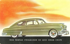 1950 Pontiac Streamliner De Luxe Sedan Coupe (aldenjewell) Tags: sedan deluxe postcard pontiac coupe 1950 streamliner
