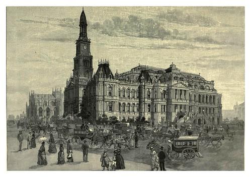 005-Auntamiento de Sydney y Catedral de San Andrew's-Australasia illustrated (1892)- Andrew Garran
