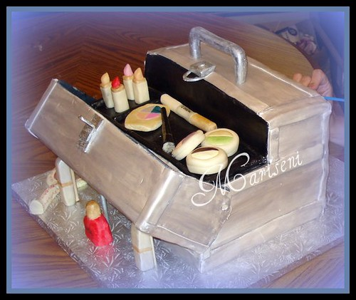 how to make birthday cake on facebook. Make-up Train Case 30th