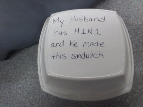 My Husband has H1N1 and he made this sandwich