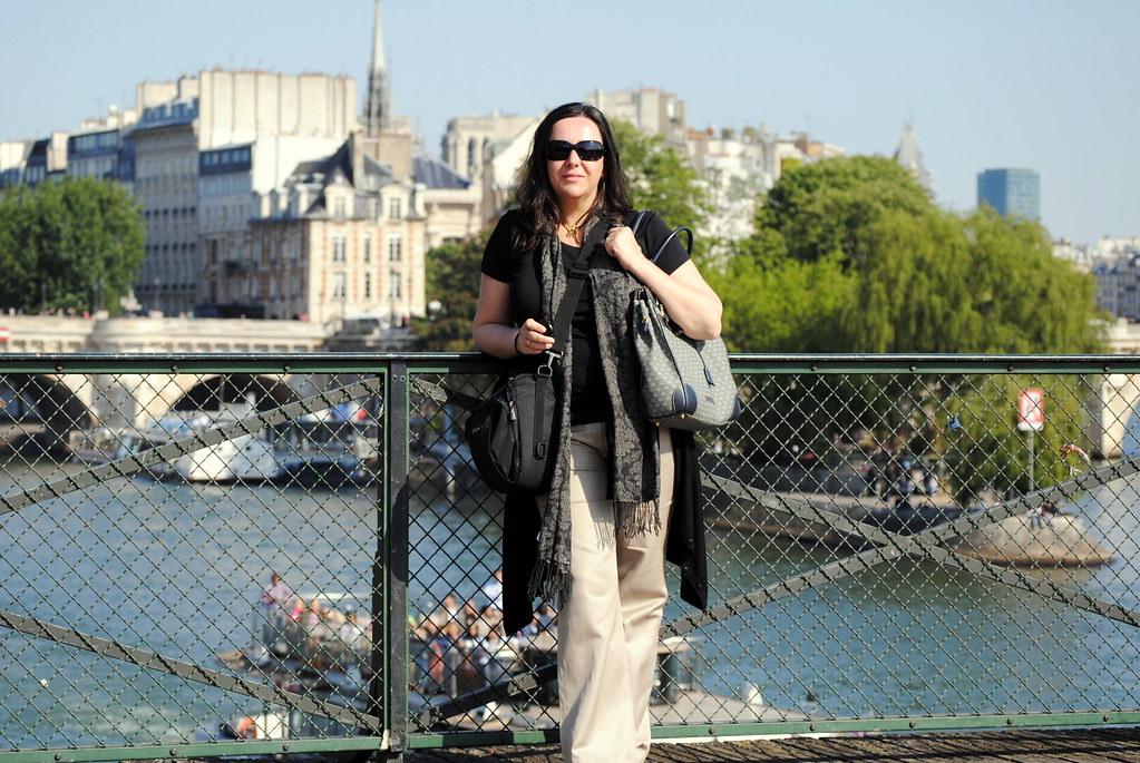 En un puente de Paris
