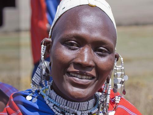 Cheerful Masaii Woman