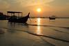 serenity... (ChR!s H@rR!0t) Tags: sea nature sunrise canon reflections boat sampan 24105mm 1000d ☆thepowerofnow☆ mygearandmepremium mygearandmebronze mygearandmesilver
