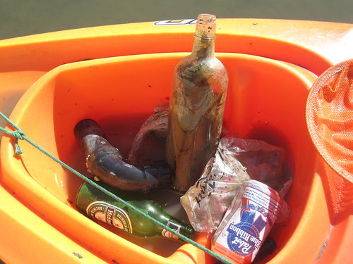 Trash picked up from Redwood Creek