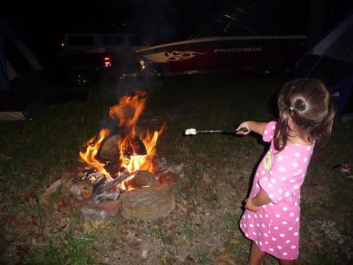 roasting marshmellows.