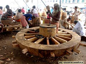 Ratha yatra 2010 work of construction