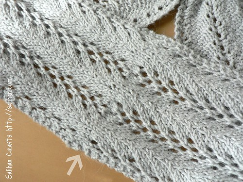 Lace Keyhole Scarf (grafted join)