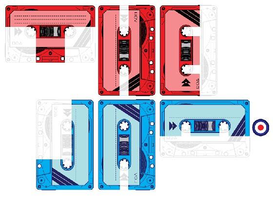 tipografía en cassette