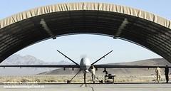 Reaper UAV of 39 Sqn RAF at Creech Air Force B...