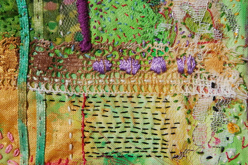 Detail of Mixed Media Embroidery