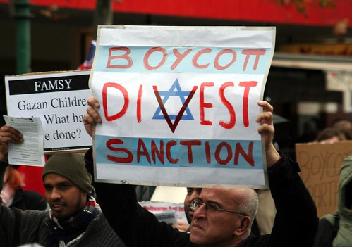 From flickr.com: Israel - Boycott, divest, sanction - Western supporters may be making things worse for those they are trying to help. {MID-70257}