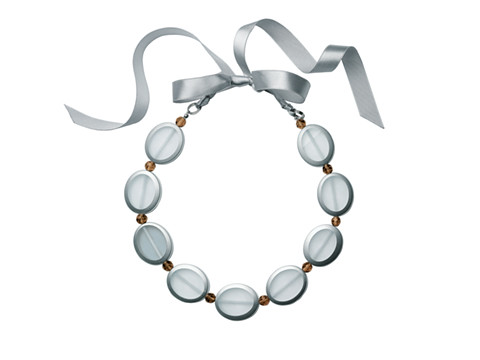 SCULPTURED SILVER NECKLACE $34.00 Item # 88040